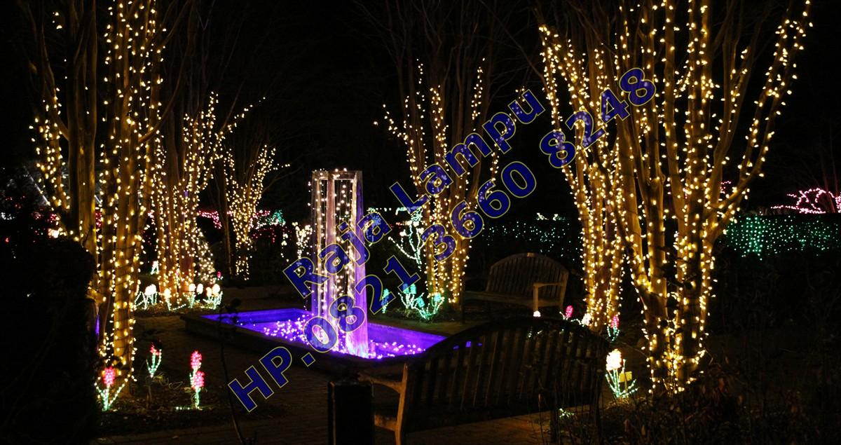 Lampu Hias Taman Bunga Sakura Pohon Cherry Pusat Lampu Hias