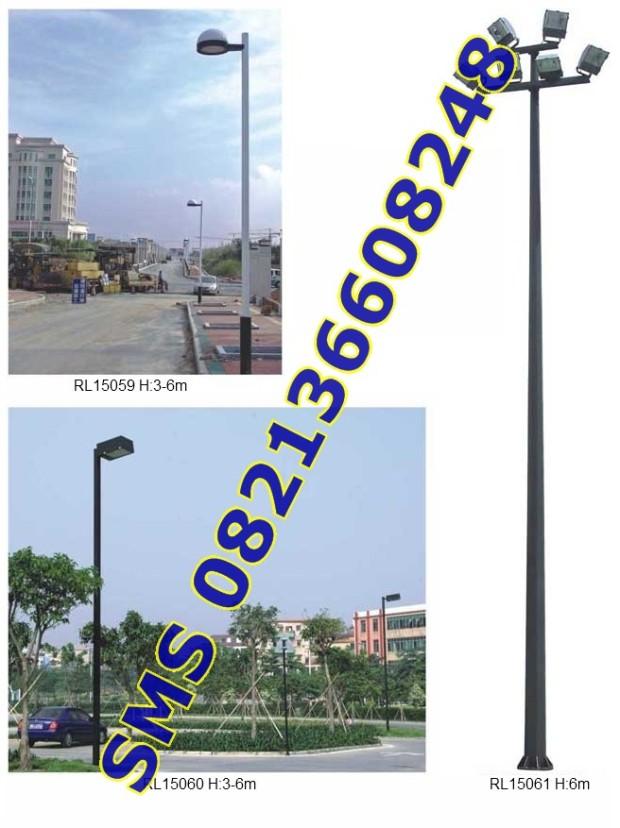 Tiang Lampu SPBU dan Taman12
