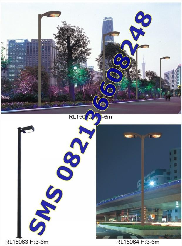 Tiang Lampu SPBU dan Taman13