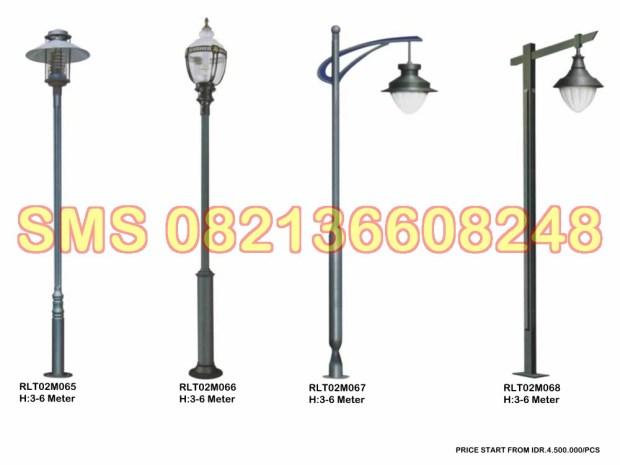 Tiang Lampu Taman Minimalis RLT02M12