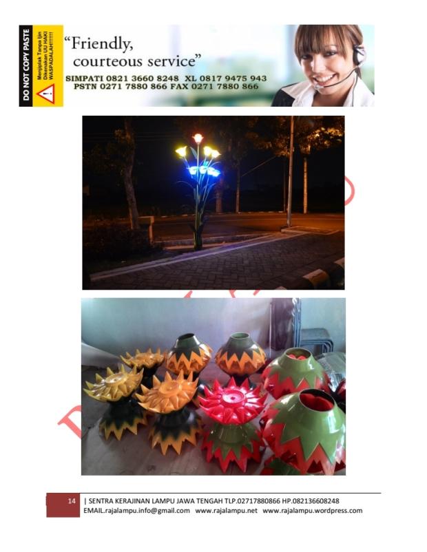 Kerajinan Lampu Hias Bunga 14