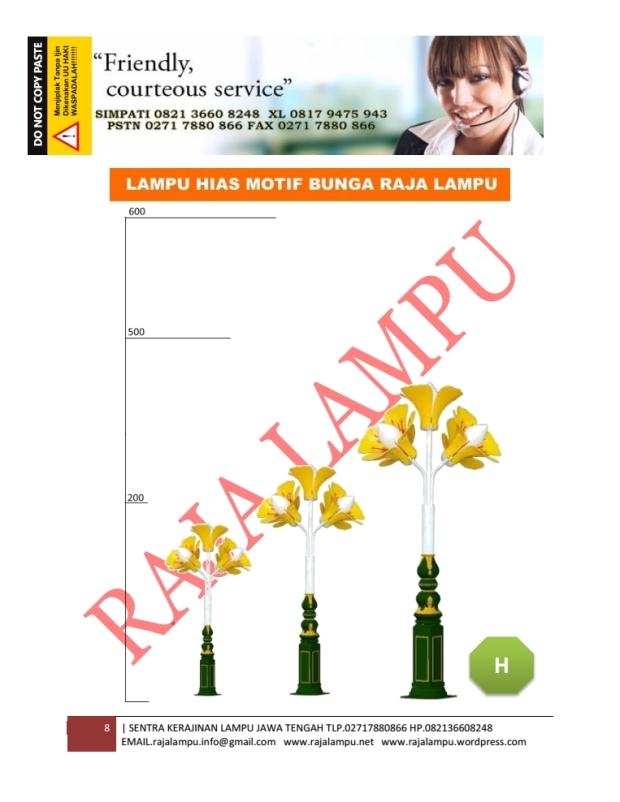 Lampu Hias Bunga Tulip Kuning 8