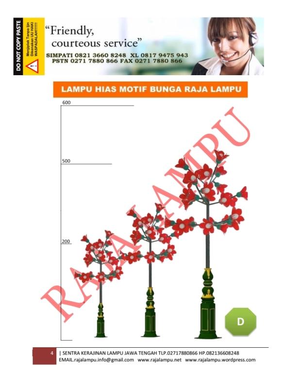 Lampu Hias Bunga Tulip Merah 4