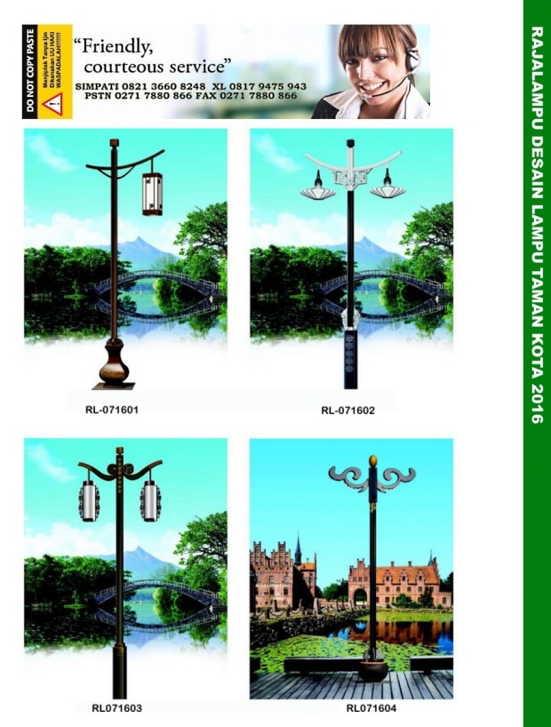 Tiang Lampu Taman Kota 1