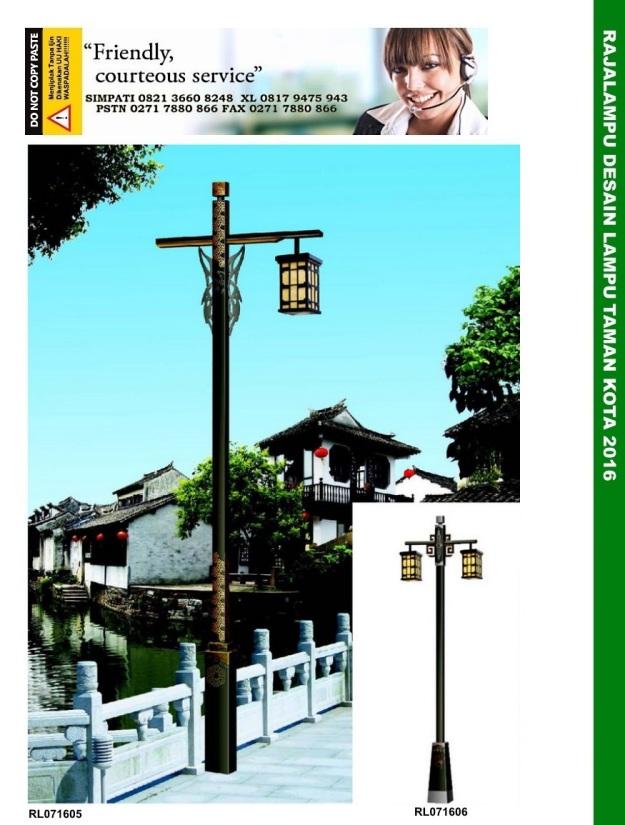 Tiang Lampu Taman Kota 2