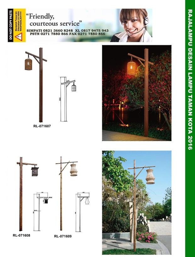 Tiang Lampu Taman Kota 3