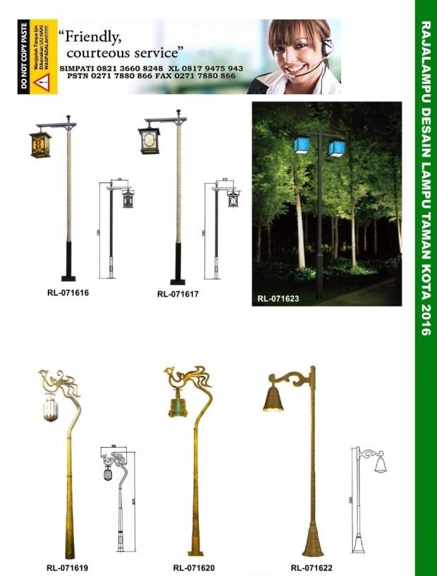 Tiang Lampu Taman Kota 5